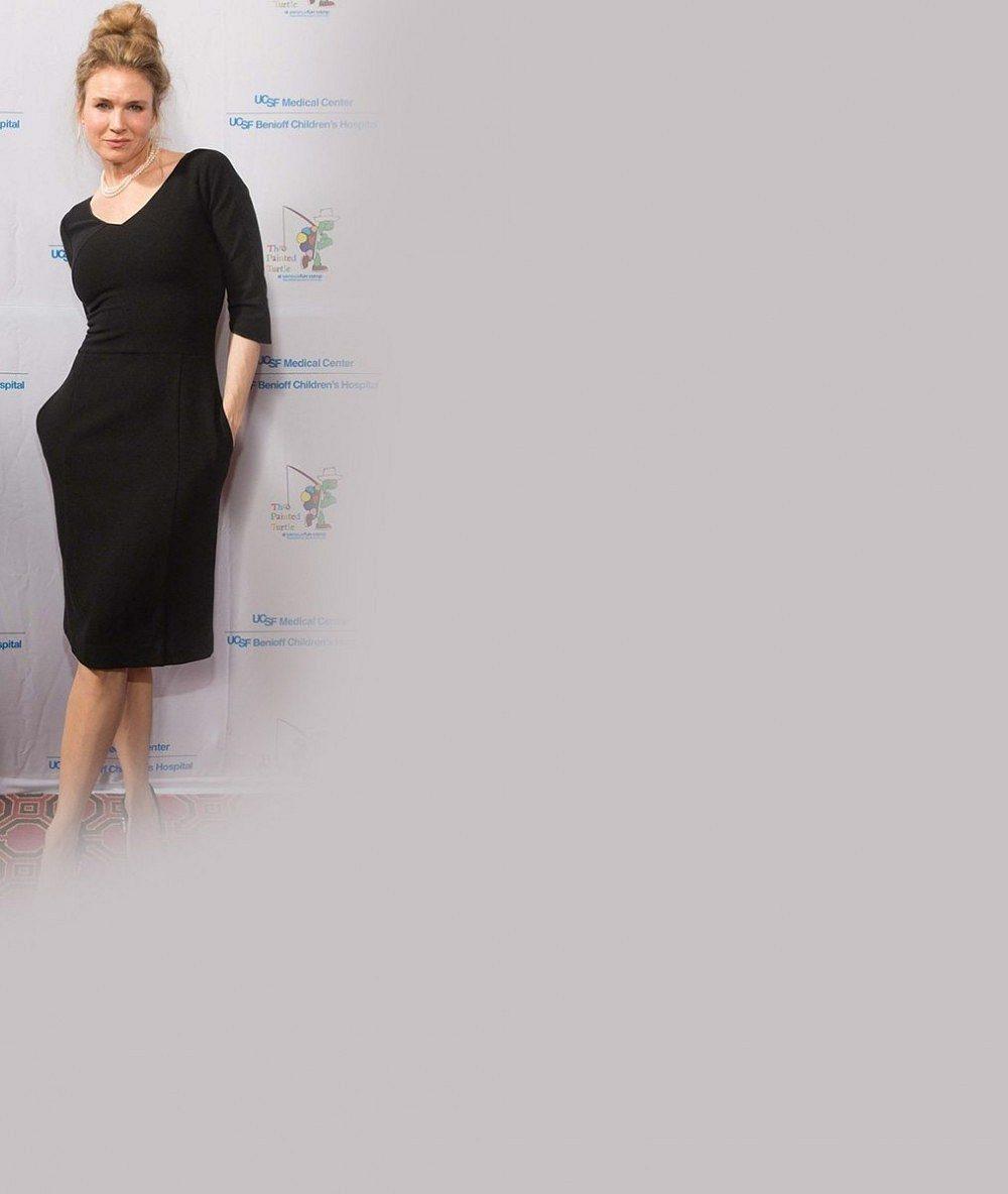 Renée Zellweger alias Bridget Jones po pěti měsících na červeném koberci: Co to neupravené obočí?