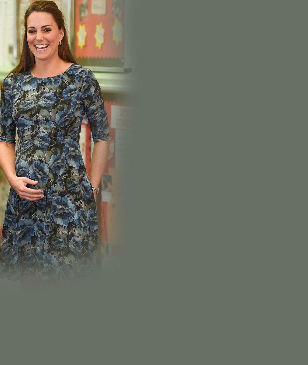 Po znavené vévodkyni s šedinami ani stopy: Podívejte, jak to Kate sluší šest týdnů před porodem