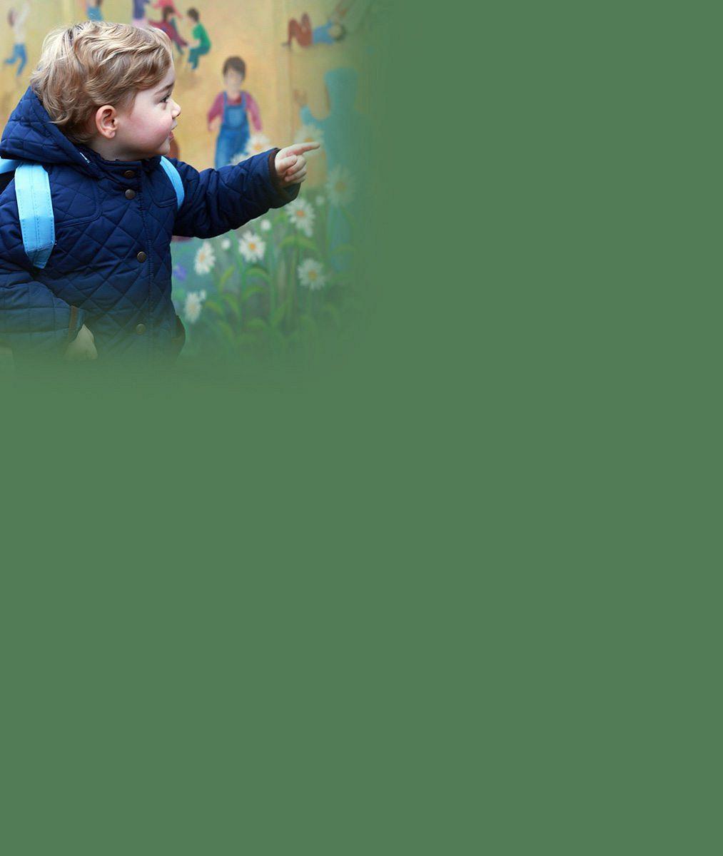 Princ George šel poprvé do školky. A to mu jsou teprve dva roky!