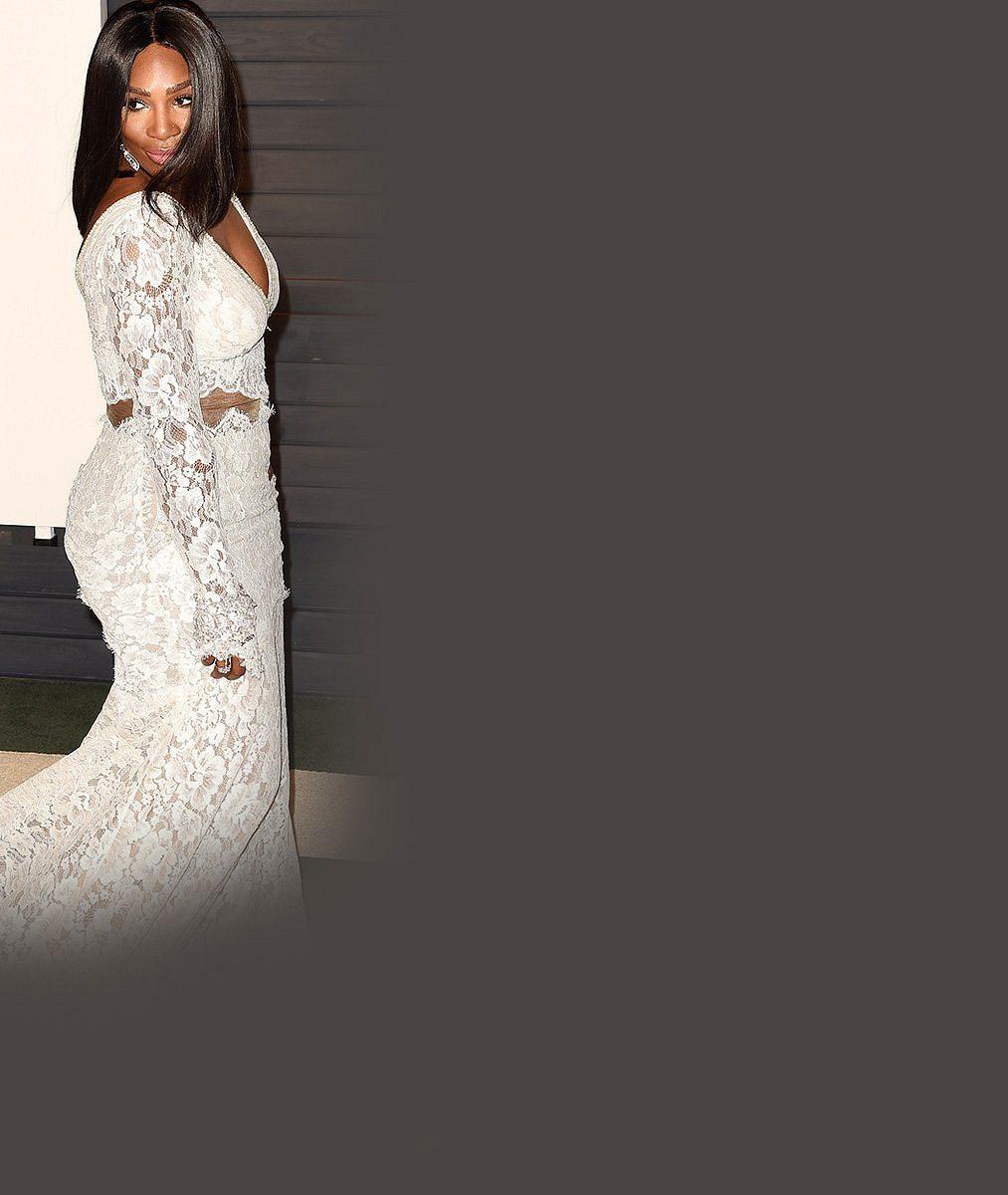 Svalnatá Serena Williams přišla na oscarovou párty v šatech pro odvážnou nevěstu