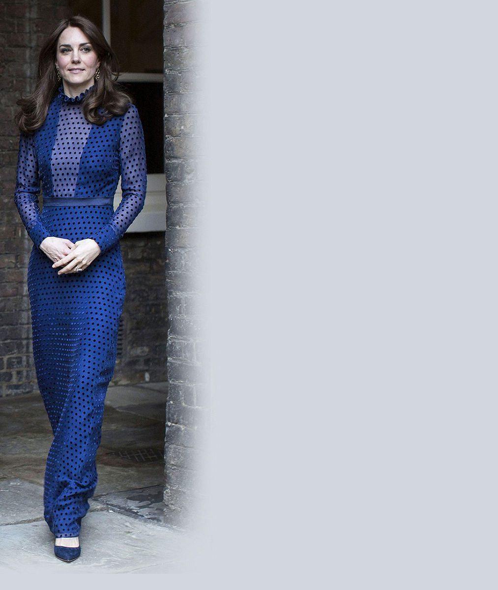 Vévodkyně Kate uvítala v paláci studenty z Indie a Bhútánu v noblesních šatech od indické návrhářky