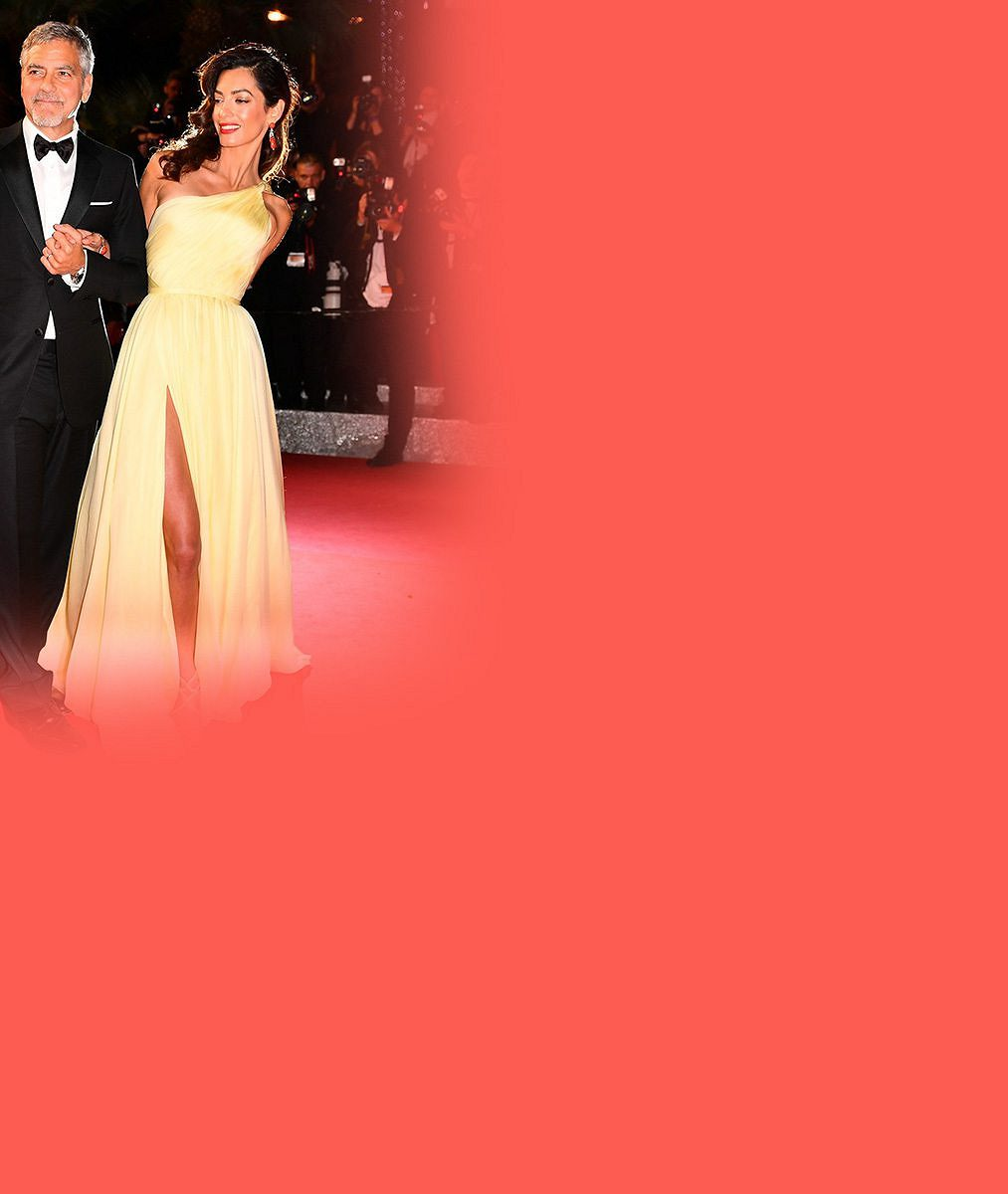 Božská Amal v Cannes neukočírovala šaty. Rozparek odhalil, co náleží manželovi Clooneymu