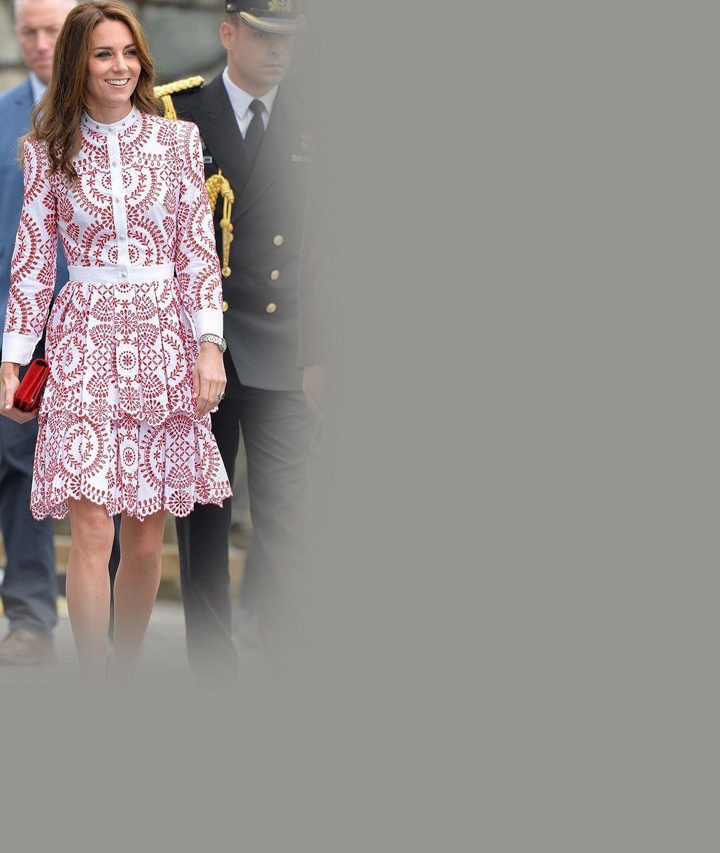 Vévodkyně Kate se na státní návštěvě sladila s kanadskou vlajkou: Oblékla šaty za 125 tisíc