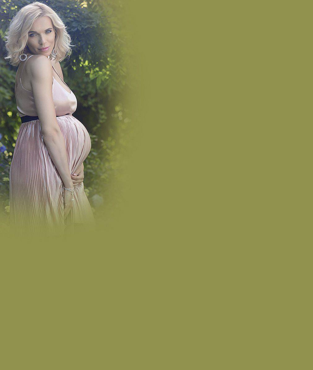 Mašlíková se těsně před porodem pochlubila snímky, na kterých vypadá jako těhotná víla