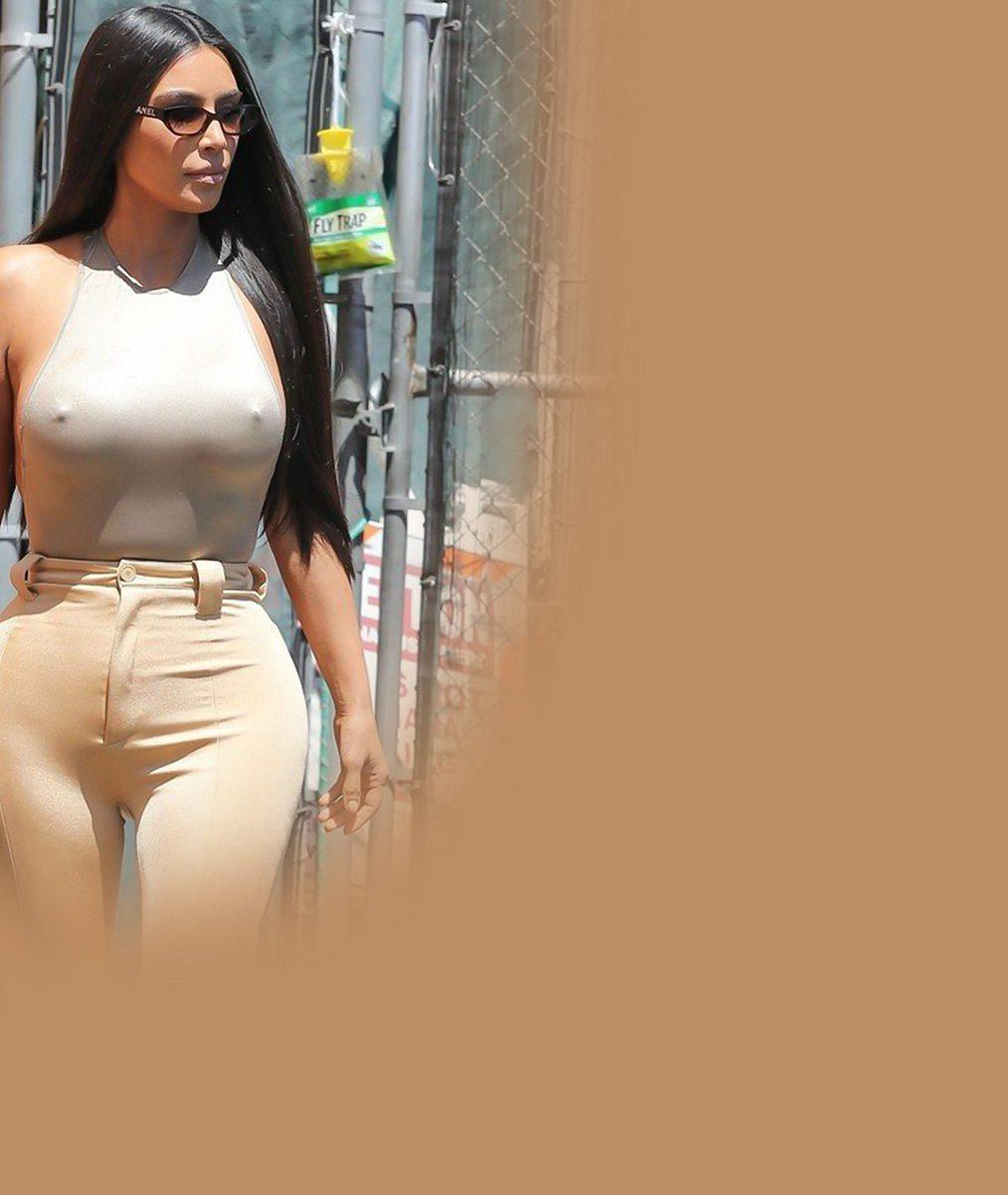 Královna přiléhavých bodýček opět vystavila své přednosti: Kim Kardashian podprsenku nosit nepotřebuje