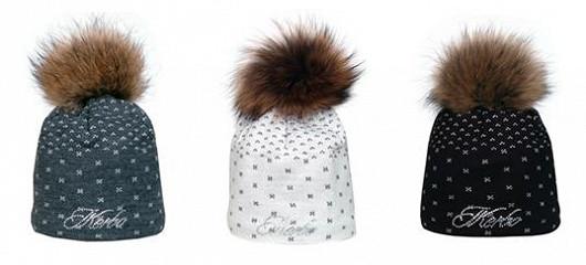 Originální dámská čepice s pravou kožešinou