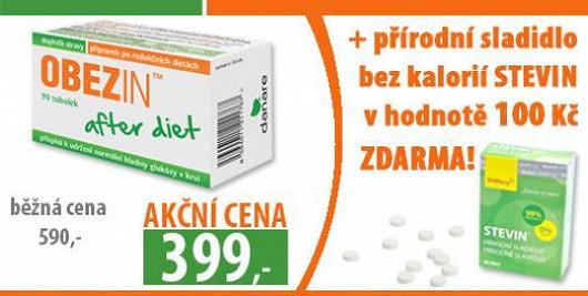 Speciální akce pro čtenáře Super.cz: OBEZIN after diet ™ za 399 Kč a navíc zdarma přírodní sladidlo bez kalorií STEVIN® v hodnotě 100 Kč !