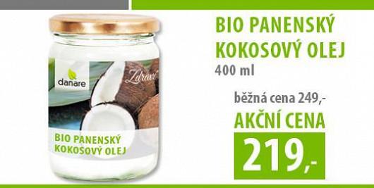 Speciální akce pro čtenáře Extra.cz: Panenský kokosový olej 400 ml jen za 219 Kč.