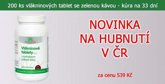 200 ks vlákninové tablety s 250 mg extraktu ze zelené kávy v jedné tabletě. Balení na 33 dní. Novinka na trhu v ČR. Jen na Super.cz