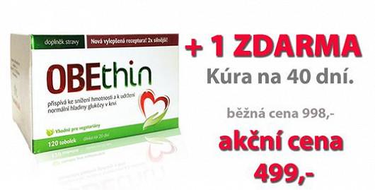 Extra silná receptura na 40 dní. Obethin dnes v akci 120+120 kapslí ZDARMA za cenu 499 Kč. Jen na Super.cz