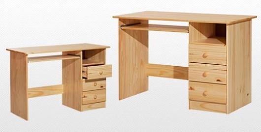 Dětský psací stůl z borovicového dřeva