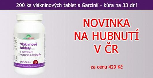 Revoluce v hubnutí! Vlákninové tablety s 250 mg extraktu z Garcinia Cambogia v jedné tabletě. Balení na 33 dní. Novinka na trhu v ČR