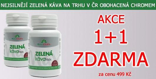 500 mg extraktu zelené kávy v každé tobolce. Nejsilnější na trhu v ČR + chrom. Akce 1+1 ks ZDARMA. Jen na Super.cz