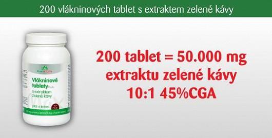 200 ks tablet MAX obsahuje neskutečných 50.000 mg extraktu 10:1 ze zelené kávy! Obohaceno vlákninou pro zdravá střeva. Novinka
