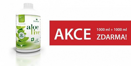 Čím víc aloe, tím víc zdraví - ALOELIVE 99,7% nyní 1000 ml + 1000 ml ZDARMA