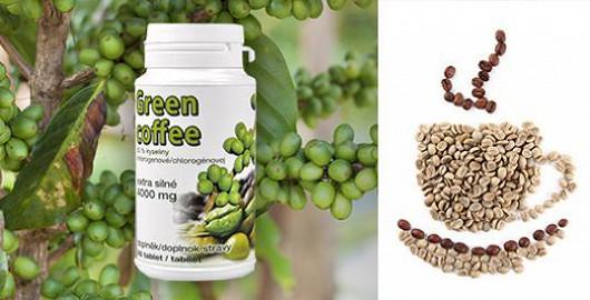 Extra silná zelená káva Green coffee 4000 mg právě teď jen za 350 Kč