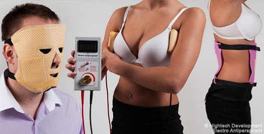 Electro Antiperspirant léčí i nadměrné pocení podpaží, hlavy, břicha a zad