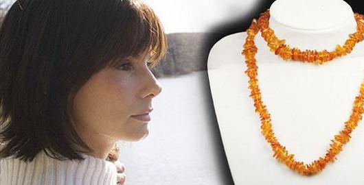 Jantar náhrdelník 90 cm – znamení Lva