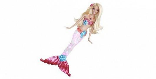 MATTEL Barbie svítící mořská panna o 15 % levněji
