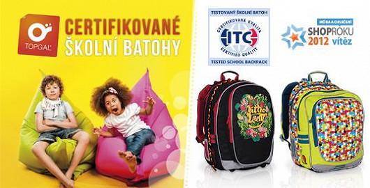 Certifikované školní batohy Topgal