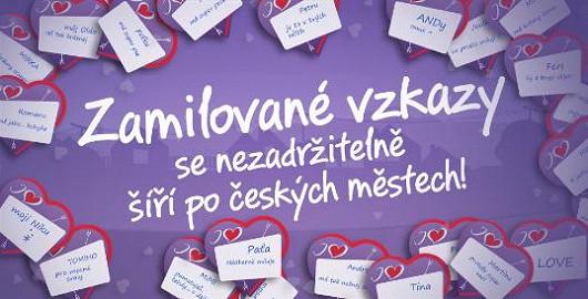 Zamilované vzkazy se nezadržitelně šíří po českých městech!