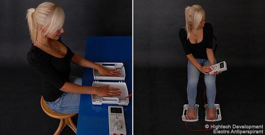 Electro Antiperspirant léčí nadměrné pocení rukou a nohou