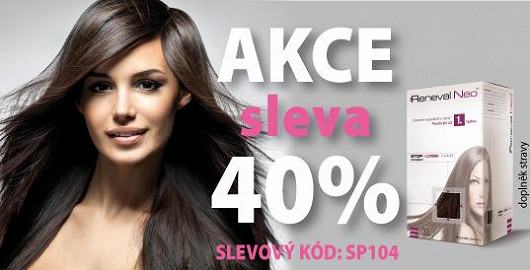 Reneval Neo™ nyní zakoupíte se 40% slevou. Přípravek objednávejte na www.RenevalNEO.cz. Při nákupu nezapomeňte uplatnit váš slevový kód SP104. Nabídka platí do 15. 5. 2014