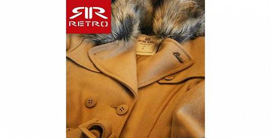 Dámský kabát RETRO JEANS na Freeportu se slevou 75% za 888,- Kč!