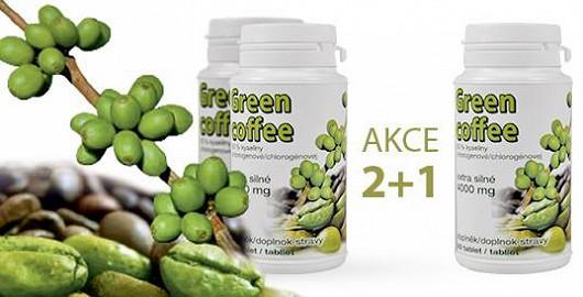 Speciálně pro čtenáře Super.cz nabízíme mimořádnou akci na Green Coffee extra silné 2 + 1 zdarma za 598 Kč s DPH (+ poštovné a balné 50 Kč). Využijte této zcela ojedinělé nabídky a začněte s hubnutím a očistou organismu už nyní!