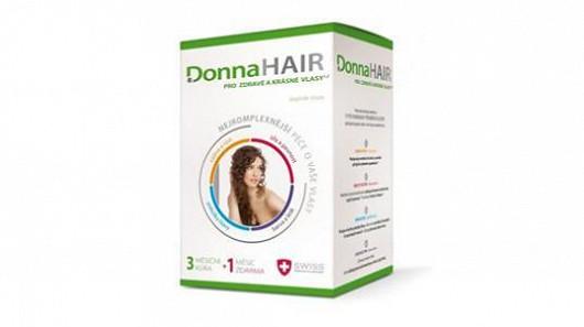 Pro poškozené a slabé vlasy je nejlepší Donna Hair nyní ve výhodném balení 3+1 měsíc užívaní zdarma. Znáte z TV!