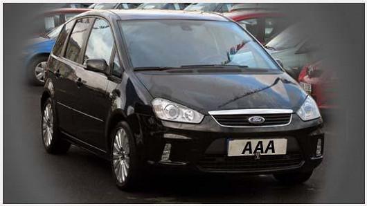 Oblíbené prostorné MPV Ford C-Max 1.8 TDCi, černá metalíza, z roku 2008, po 1. majiteli, najeto pouze 92 323 km