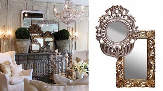 Vyřezávaná zrcadla jako na zámku