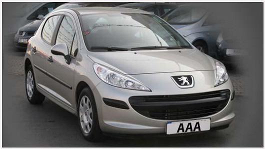 Praktický Peugeot 207 1.4 hatchback, šedá metalíza, z roku 2008, koupený nový v ČR, po 1. majiteli, najeto pouze 43 479 km