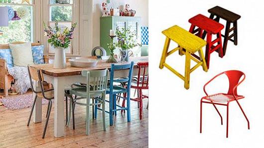 Interiér osvěží barevné židle
