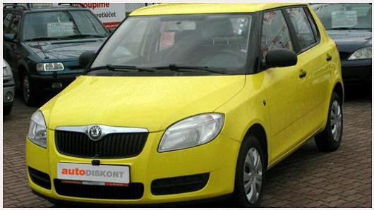 Škoda Fabia, barva žlutá, 44 kW, 2008