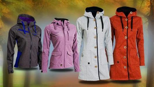 Nepromokavé dámské bundy a kabáty softshell nyní výhodně!