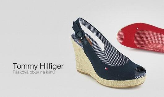 Dámská pásková obuv na klínu Tommy Hilfiger