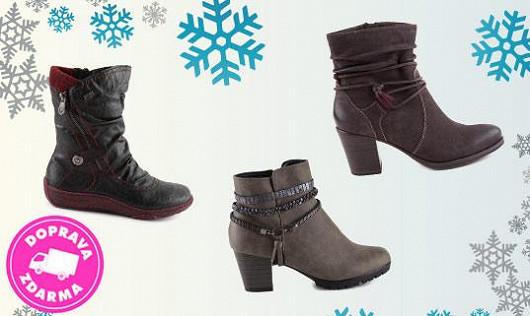 Zateplené kotníkové boty pro ty ženy, které nemají rády podpatky