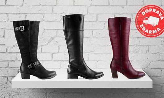 Krásné kozačky pro každou nohu – skladem i modely pro úzké nebo široké lýtko!