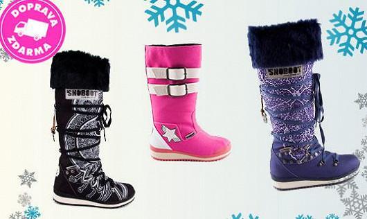 Sněhule do sněhu na hory, do města i na módní mola