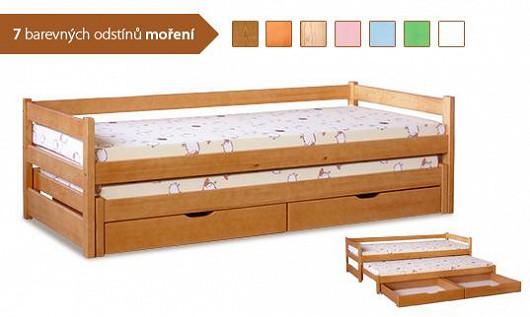 Parádní postel do pokojíčku 3 v 1. Při slevových slavnostech nezapomínáme ani na děti