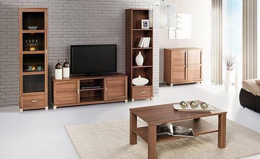 Také malý obývák může mít osobitý styl. Dodá mu ho nábytek v jednotném designu