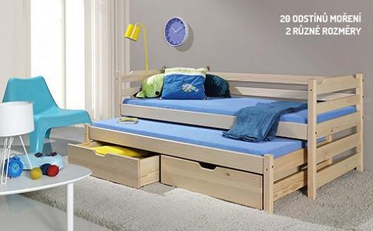 Ve dne hřiště, v noci ložnice. Praktická postel do dětského pokoje šetří místo i vaši peněženku!