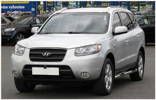 Elegantní a prostorné SUV Hyundai Santa Fe 2.2 CRDi, z roku 2009, po 1. majiteli, najeto pouze 82 638 km
