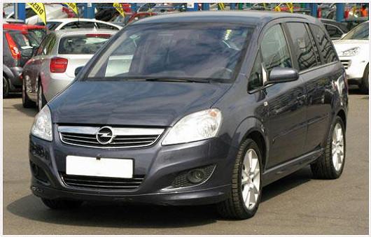 Elegantní a prostorné MPV Opel Zafira 1,9 CDTI, z roku 2009, po 1. majiteli, najeto pouze 80578 km