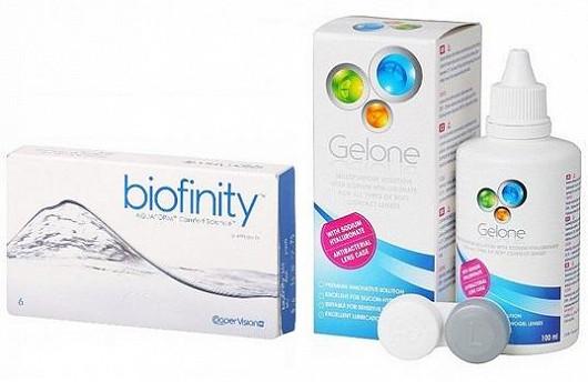 Kontaktní čočky Biofinity + roztok Gelone