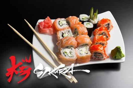 Japonské sushi za půlku v atmosférické SAKURA garden
