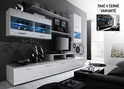 """Moderní tvary pro moderní lidi! Buďte """"in"""" díky atraktivní obývací stěně za báječnou cenu"""
