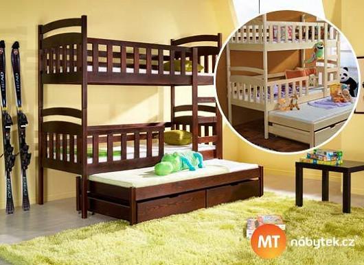 Ne 1, ne 2, ale hned 3 děti uložíte na patrovou postel s přistýlkou. Myslete ekonomicky