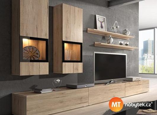 Obývací stěna, po jaké toužíte i vy. Moderní, praktická a s více než třetinovou slevou